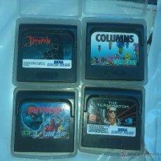 Videojuegos y Consolas: GAMEGEAR DRACULA,COLUMS,SHINOBI,THE TERMINATOR LOTE 4 JUEGOS. Lote 42713611