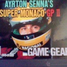 Videojuegos y Consolas: GAMEGEAR JUEGO SIN PROBAR AYRTON SENNA´S SUPER MONACO GP II GAME GEAR . Lote 42760080