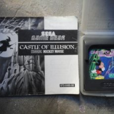 JUEGO ORIGINAL SEGA GAME GEAR CASTLE OF ILLUSION STARRING MICKEY MOUSE