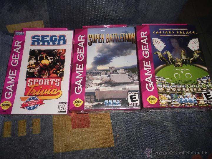 LOTE 3X JUEGOS SEGA GAME GEAR,A ESTRENAR,SUPER BATTLETANK,CAESARS PALACE Y SEGA SPORT (Juguetes - Videojuegos y Consolas - Sega - GameGear)
