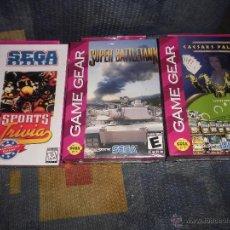 Videojuegos y Consolas: LOTE 3X JUEGOS SEGA GAME GEAR,A ESTRENAR,SUPER BATTLETANK,CAESARS PALACE Y SEGA SPORT. Lote 47961658