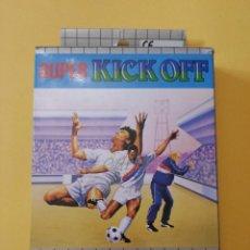 Videojuegos y Consolas: JUEGO SEGA GAME GEAR SUPER KICK OFF EN CAJA CON LIBRO INSTRUCCIONES, PLASTICO INTERIOR, CARTUCHO. Lote 51729117