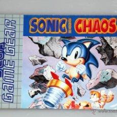 Videojuegos y Consolas: SEGA GAME GEAR MANUAL INSTRUCCIONES SONIC CHAOS. Lote 52949481