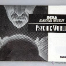 Videojuegos y Consolas: SEGA GAME GEAR MANUAL INSTRUCCIONES PSYCHIC WORLD. Lote 52949582