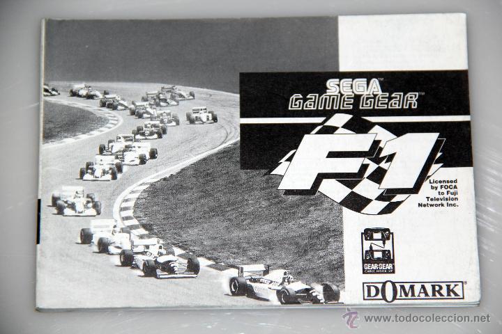 SEGA GAME GEAR MANUAL INSTRUCCIONES F1 (Juguetes - Videojuegos y Consolas - Sega - GameGear)