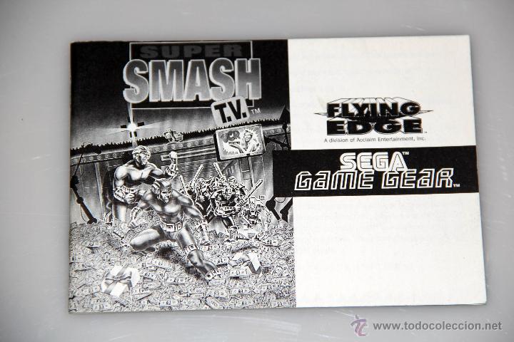 SEGA GAME GEAR MANUAL INSTRUCCIONES SMASH TV (Juguetes - Videojuegos y Consolas - Sega - GameGear)