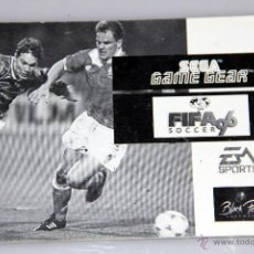 Videojuegos y Consolas: SEGA GAME GEAR MANUAL INSTRUCCIONES FIFA SOCCER 96. Lote 52949662