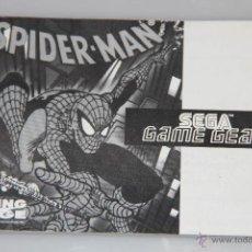 Videojuegos y Consolas: SEGA GAME GEAR MANUAL INSTRUCCIONES SPIDERMAN SPIDER-MAN. Lote 52949675