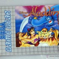 Videojuegos y Consolas: SEGA GAME GEAR MANUAL INSTRUCCIONES ALADDIN. Lote 52949708