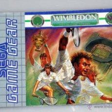 Videojuegos y Consolas: SEGA GAME GEAR MANUAL INSTRUCCIONES WIMBLEDON. Lote 52949715