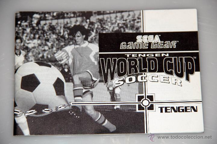 Videojuegos y Consolas: SEGA GAME GEAR MANUAL INSTRUCCIONES WORLD CUP SOCCER - Foto 1 - 52949753