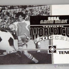 Videojuegos y Consolas: SEGA GAME GEAR MANUAL INSTRUCCIONES WORLD CUP SOCCER. Lote 52949753