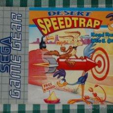 Videojuegos y Consolas: INSTRUCCIONES PARA EL JUEGO DESERT SPEEDTRAP PARA SEGA GAMEGEAR. Lote 53091723
