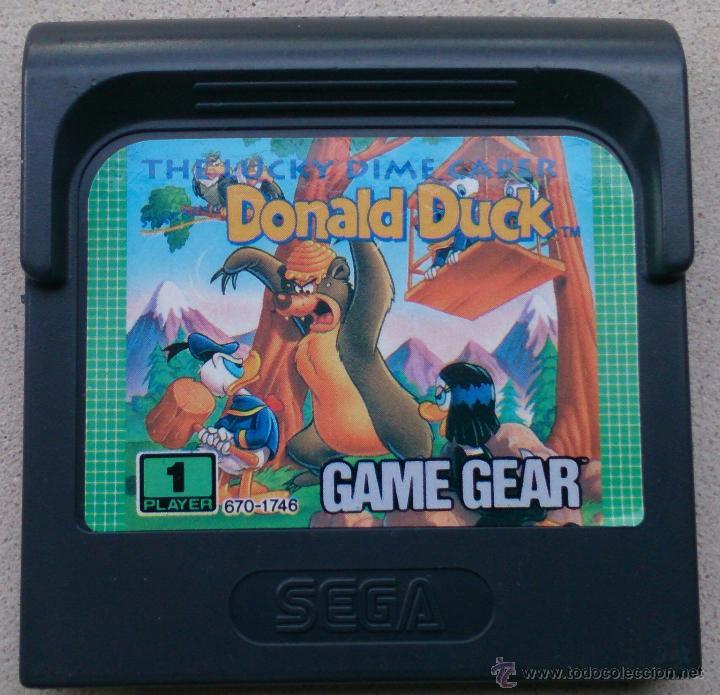 JUEGO GAME GEAR DONALD DUCK, PATO DONALD (Juguetes - Videojuegos y Consolas - Sega - GameGear)