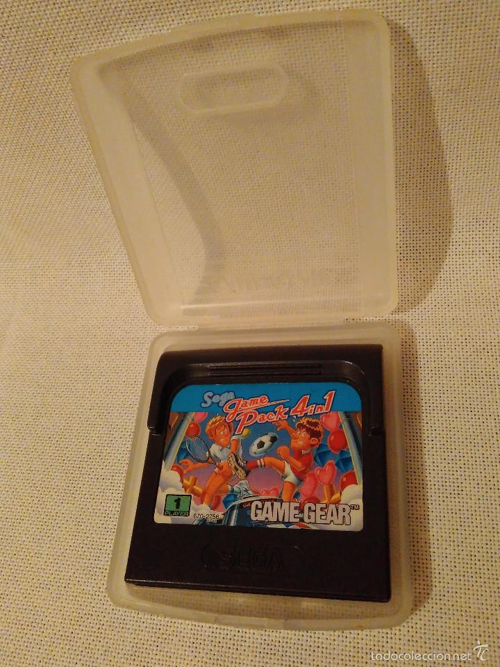 Videojuegos y Consolas: Game Gear. Game Pack 4 in 1. Cartucho con su caja. GameGear. - Foto 3 - 56714417