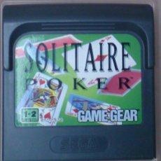 Videojuegos y Consolas: GAME GEAR GAMEGEAR JUEGO SOLITAIRE POKER . Lote 58111506
