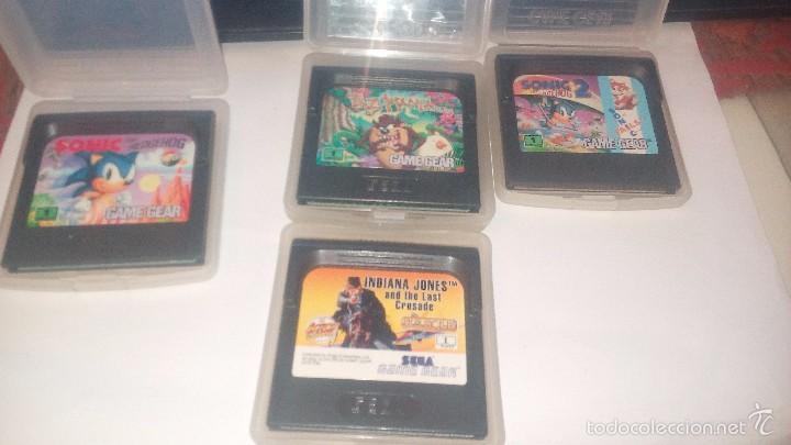 INDIANA JONES AND THE LAST CRUSADE - TAZMANIA - SONIC Y SONIC 2 (Juguetes - Videojuegos y Consolas - Sega - GameGear)