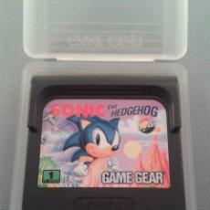 Videojuegos y Consolas: JUEGO SEGA GAME GEAR SONIC THE HEDGEHOG + FUNDA TODO ORIGINAL PAL R4622. Lote 177935600