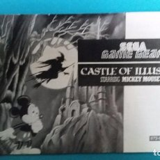 Videojuegos y Consolas: MANUAL DE INSTRUCCIONES SEGA GAME GEAR CASTLE OF ILLUSION . Lote 67552873