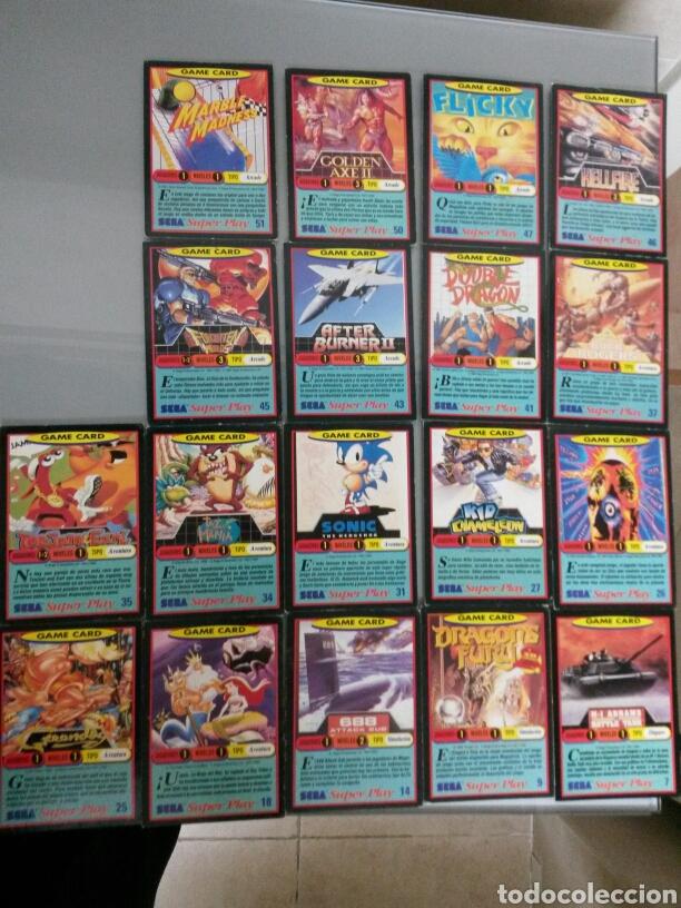 50 CARTAS SEGA SUPERPLAY DIFERENTES AÑOS 1991-92 (Juguetes - Videojuegos y Consolas - Sega - GameGear)