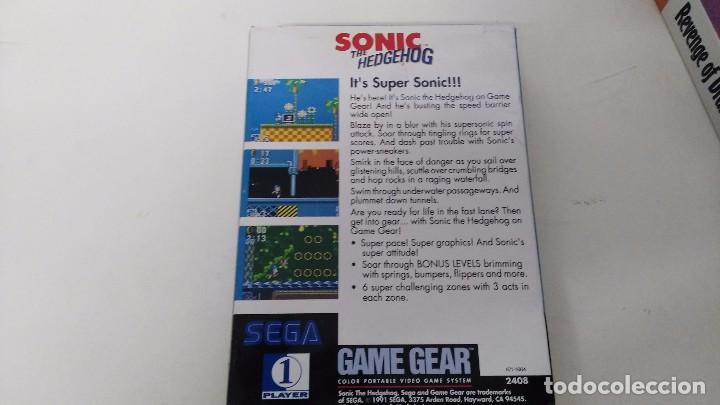 Videojuegos y Consolas: antiguo juego para la sega game gear sonic completo ES NUEVO - Foto 2 - 239559100