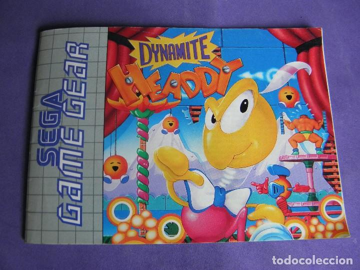 MANUAL JUEGO SEGA GAME GEAR GAME GEAR DYNAMITE HEADDY (Juguetes - Videojuegos y Consolas - Sega - GameGear)