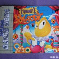 Videojuegos y Consolas: MANUAL JUEGO SEGA GAME GEAR GAME GEAR DYNAMITE HEADDY. Lote 254305555