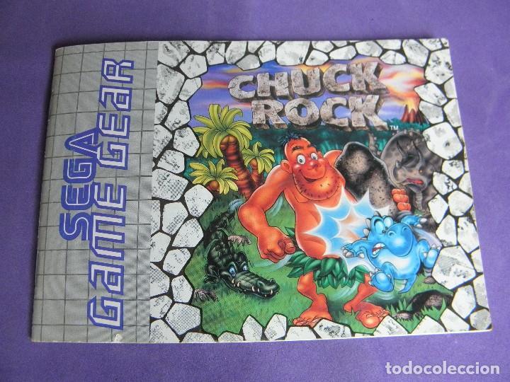 MANUAL JUEGO SEGA GAME GEAR GAME GEAR CHUCK ROCK (Juguetes - Videojuegos y Consolas - Sega - GameGear)