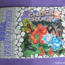 Videojuegos y Consolas: MANUAL JUEGO SEGA GAME GEAR GAME GEAR CHUCK ROCK. Lote 254305600