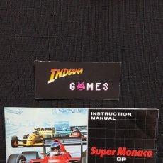 Videojuegos y Consolas: SEGA GAMEGEAR SUPER MONACO GP ( LIBRETO ). Lote 89214444