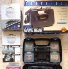 Videojuegos y Consolas: CONSOLA GAME GEAR (SEGA) + MALETÍN CARRY-ALL + TV TURNER ADAPTOR + 4 JUEGOS. Lote 95754995