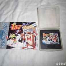 Videojuegos y Consolas: TAZ IN ESCAPE FROM MARS JUEGO GAME GEAR CON EL LIBRETO DE INSTRUCCIONES. Lote 95882347