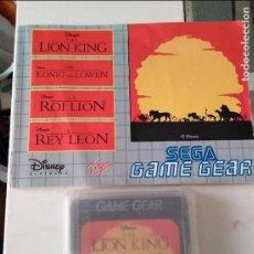 Videojuegos y Consolas: GAME GEAR EL REY LEÓN LION KING SEGA INCLUYE INSTRUCCIONES. Lote 96437931