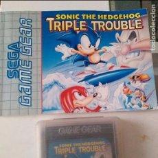 Videojuegos y Consolas: JUEGO SEGA GAME GEAR SONIC TRIPLE TROUBLE INCLUYE INSTRUCCIONES. Lote 96438283
