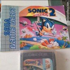 Videojuegos y Consolas: JUEGO SEGA GAME GEAR THE HEDGEHOG SONIC 2. Lote 96438503