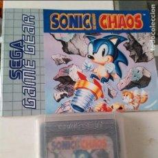 Videojuegos y Consolas: SEGA GAME GEAR SONIC CHAOS INCLUYE INSTRUCCIONES. Lote 96438539