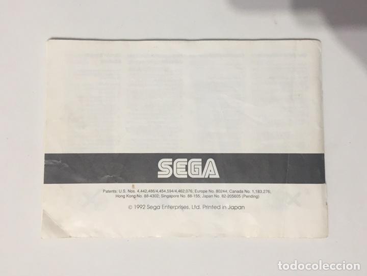 Videojuegos y Consolas: Sega Game Gear Manual de Instrucciones Sonic - Foto 3 - 105695378
