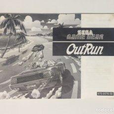 Videojuegos y Consolas: SEGA GAME GEAR MANUAL DE INSTRUCCIONES OUT RUN. Lote 105695484