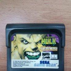 Videojuegos y Consolas: THE INCREDIBLE HULK - SEGA GAME GEAR - GG. Lote 106046203