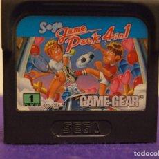 Videojuegos y Consolas: 4 EN 1 MULTIJUEGO SEGA GAMEGEAR CARTUCHO 4 JUEGOS EN 1. Lote 106082755