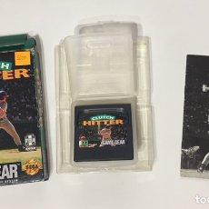 Videojuegos y Consolas: JUEGO SEGA GAME GEAR CLUTCH HITTER COMPLETO, CON CAJA E INSTRUCCIONES. Lote 112163484