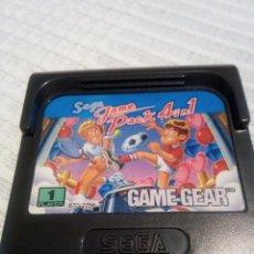 Videojuegos y Consolas: PACK SEGA 4 EN 1 GAME GEAR. Lote 115412611
