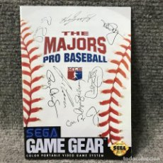 Videojuegos y Consolas: THE MAJORS PRO BASEBALL USA INSTRUCCIONES GAME GEAR. Lote 118267240