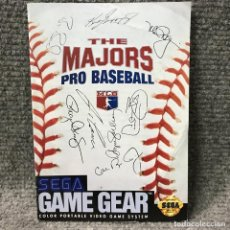 Videojuegos y Consolas: THE MAJORS PRO BASEBALL USA INSTRUCCIONES GAME GEAR. Lote 118267284