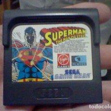 Videojuegos y Consolas: SUPERMAN THE MAN OF STEEL GAME GEAR SEGA CARTUCHO SIN PROBAR. Lote 127264535