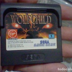 Videojuegos y Consolas: WOLFCHILD GAME GEAR SEGA CARTUCHO SIN PROBAR. Lote 127264543