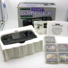 Videojuegos y Consolas: GRAN LOTE DE GAME GEAR DE SEGA: CONSOLA EN CAJA + 5 JUEGOS - FUNCIONADO. Lote 131000368