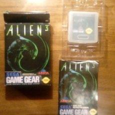 Videojuegos y Consolas: ALIEN 3. JUEGO GAME GEAR. SEGA. CON CAJA, FUNDA E INSTRUCCIONES.. Lote 133773438
