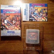 Videojuegos y Consolas: STREETS OF RAGE. JUEGO GAME GEAR. SEGA. CON CAJA, FUNDA, E INSTRUCCIONES.. Lote 133975302