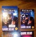 Videojuegos y Consolas: BATMAN RETURNS. JUEGO GAME GEAR. SEGA. CON CAJA, FUNDA, CARTA, INSTRUCCIONES Y POSTER. Lote 133975726